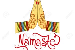 81714031 indian womans hand greeting posture of namaste vector illustration