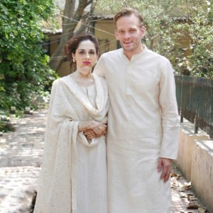 Karl Rock and Wife at SDM Office Getting Married in Delhi