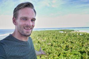 Karl Rock on Minicoy Island in Lakshadweep India