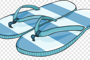 slipper shoe cartoon sneakers a pair of sandals png clip art